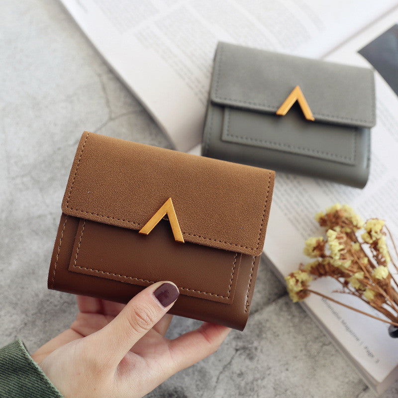 Matte Leather Small Women Wallet Luxury Brand Famous Mini Womens Wallets And Purses Short Female Coin Purse Credit Card Holder
