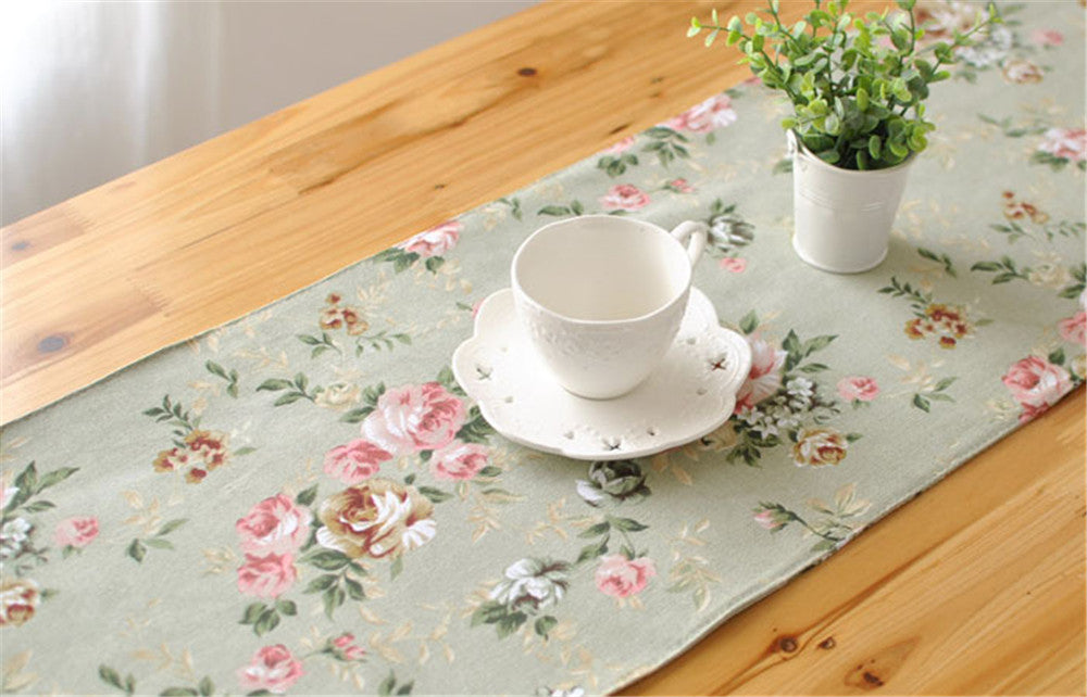 BZ386 Pastoral American country elegant bed's meal gift manufacturers selling table runner tassels runner table cover
