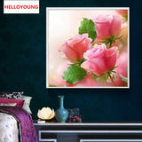DIY 5D Partial Diamond Embroidery The flowers Round Diamond Painting Cross Stitch Kits Diamond Mosaic Home Decor