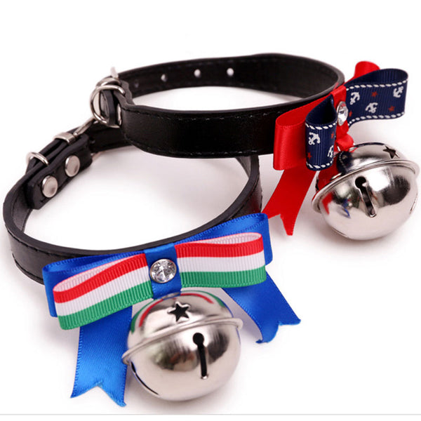Small PU leather Dog collar and leash set Chihuahua Pet dog Accessories Dog Lead Pet Shop Supplies Pet cat Collars with bells