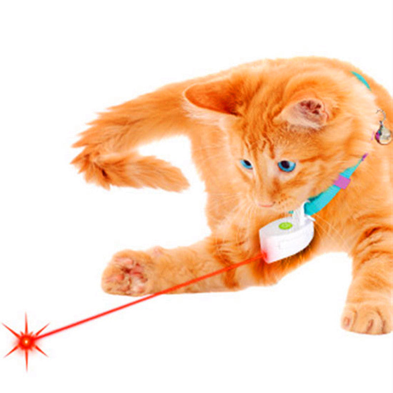 Fashion Mini Collar Laser Toy Light Pet Dog Cat Laser Pointer Cat Toy Plastic ABS Laser Fat Cat Training Toy For Dogs No Collar