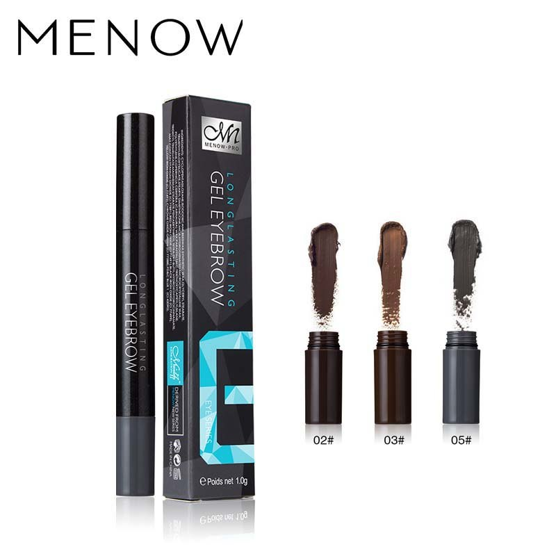 MENOW Brand Make up Eyebrow Waterproof Long Lasting Makeup Anti-Smudge Gel Eyebrow Pencil Whole sale Drop ship Cosmetics E403