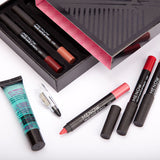 MR0003 Make up set 6 kiss proof Lipstick & Pencil sharpener & remover Cosmetic combination Waterproof Lip make up K906