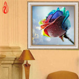 DIY 5D Full Diamond Embroidery Colorful Roses Round Diamond Painting Cross Stitch Kits Diamond Mosaic Home Decoration