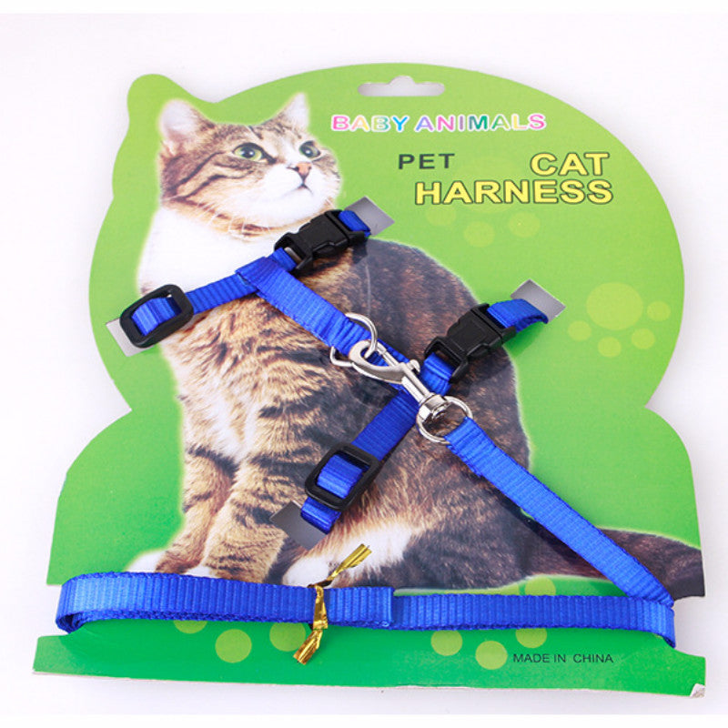 Hot Sale 4 Colors Nylon Products For Pet Cat Harness And Leash Adjustable Pet Traction Harness Belt Cat Kitten Halter Collar Cat