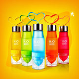 New Xmas Gift 650ml Water Bottle plastic Fruit infusion bottle Infuser Drink Outdoor Sports Juice lemon Portable Kettle