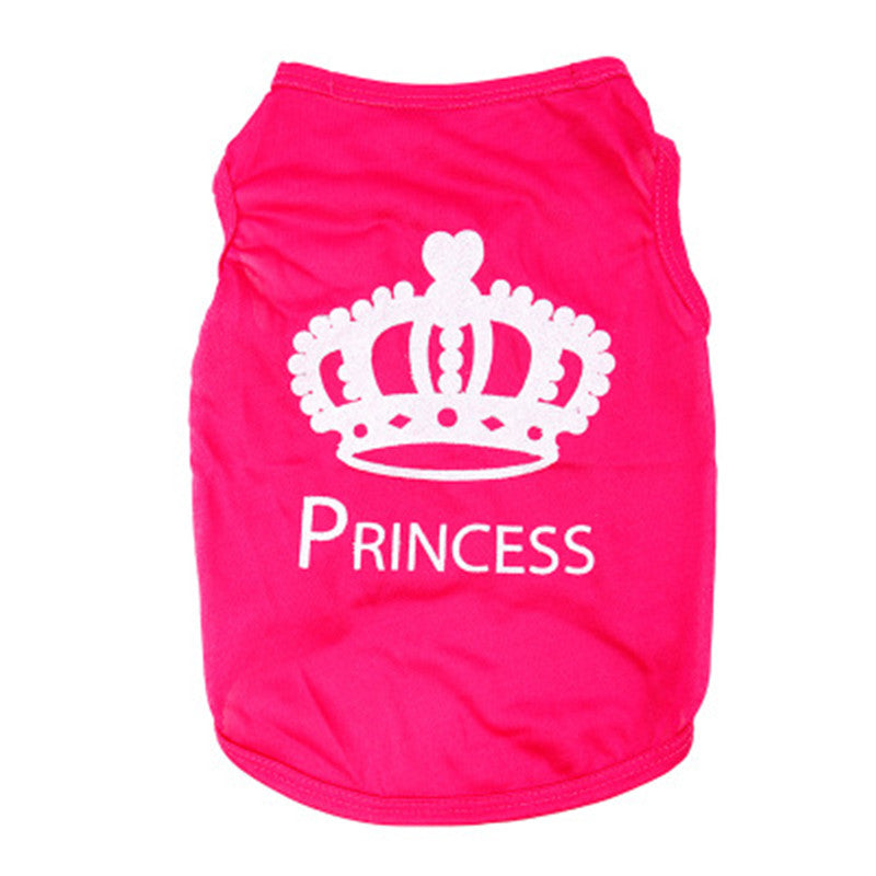Pet Dog Clothes Puppy Vest Spring summer T-shirt Pet Shirt Cute dog vest princess pajamas pet Cat Clothes costume for small dog