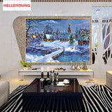 DIY Partial 5D Diamond Embroidery The bridge Round Diamond Painting Cross Stitch Kits Diamond Mosaic Home Decoration