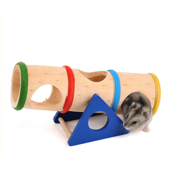 Beautiful Hamster Toys Small Pet Supplies Hamster Nest House Cage Supplies Wood colorful Wood House Small Animal Mouse Toys