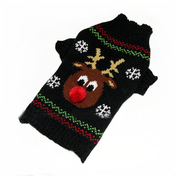 Pet dog knit Sweater clothing small dog Coat jacket dachshunds chihuahua christmas reindeer costume dog clothes Pet Supplies
