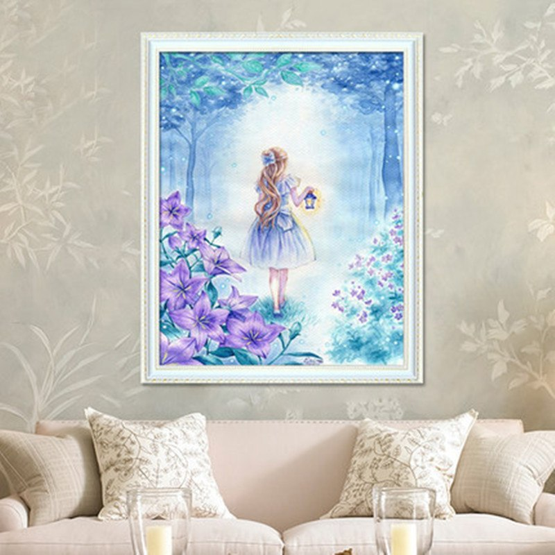 DIY 5D Full Diamond Embroidery The moon girl Round Diamond Painting Cross Stitch Kits Diamond Mosaic Home Decoration