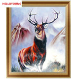DIY 5D Partial Diamond Embroidery Deer Leader Diamond Painting Cross Stitch Kits Diamond Mosaic Home Decoration