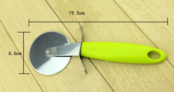 Brand High quality green ABS handle with Stainless Steel pizza wheel pizza cutter pizza knife kitchen tools