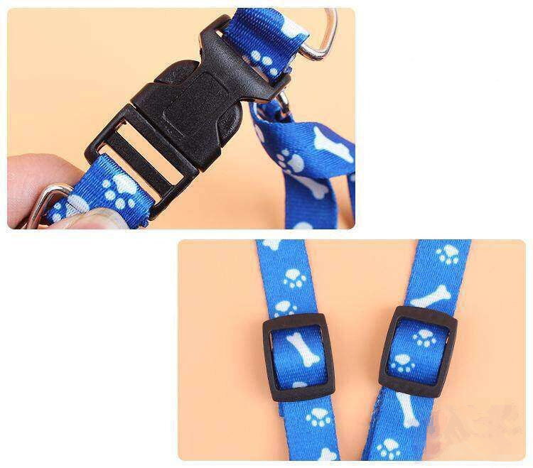 Pet dog leash harness collar sets nylon dog leash for small and large dogs Rope Cat Pet Supplies Safety For Walking