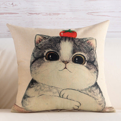 BZ110 Luxury Cushion Cover Pillow Case Home Textiles supplies Lumbar Pillow Miss cat Pattern decorative throw pillows chair seat