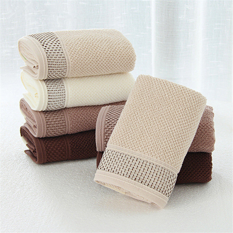 HELLOYOUNG Soft Cotton Face Towel For Adults Bathroom Super Absorbent Thick Towels 34x76cm