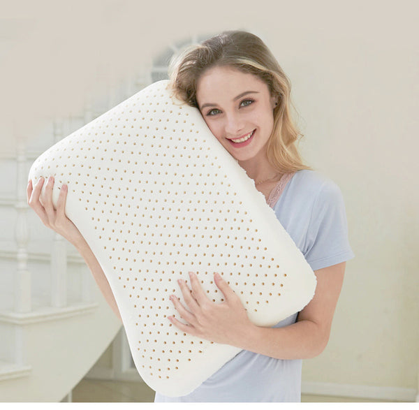 58X38cm Natural Latex Pillow Sleeping Bedding Cervical Massage Pillow Health Neck Bonded Head Care Memory Pillow U1176