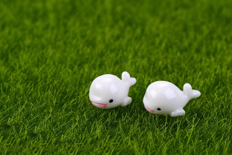XBJ040 Artificial White Dolphin fairy garden mini gnomes moss terrariums resin crafts figurines for garden decoration