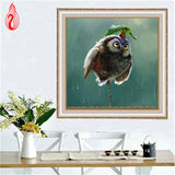 DIY 5D Diamond Embroidery The Little Bird Round Diamond Painting Cross Stitch Kits Diamond Mosaic Home Decoration