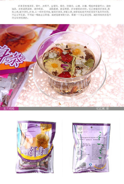 100g organic slimming flower tea herbal tea to lose weight products 10PCS / bag