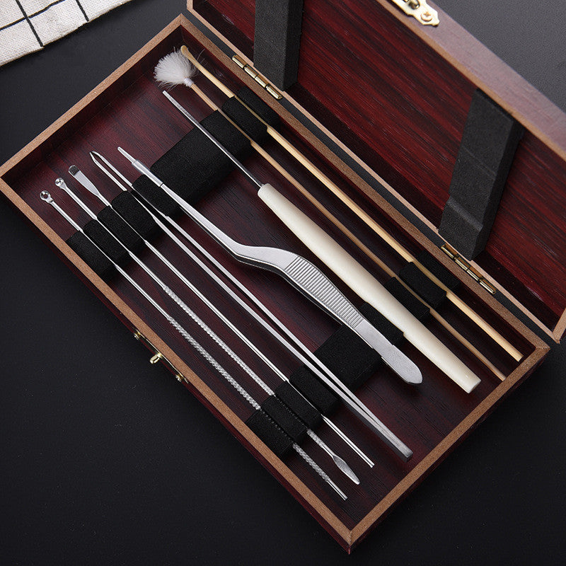 Practical 8pcs Cleaning Set Health Care Tool Ear Pick Ear Wax Remover Cleaner Curette Kit