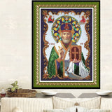 DIY Partial 5D Diamond Embroidery The Religion Round Diamond Painting Cross Stitch Kits Diamond Mosaic home  Decoration