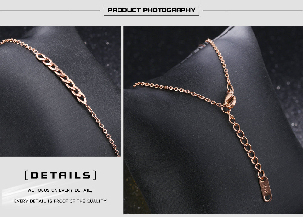 Stylish LOVE Cube Link Anklets For Women Rose Gold Color Stainless Steel Ladies Female Foot Anklet Bracelet Jewelry GZ027-30
