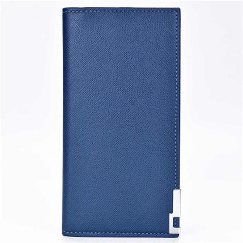 New Creative men's wallet High quality PU leather clutch genuine Simple Soft-skin cross-grain thin men's wallet