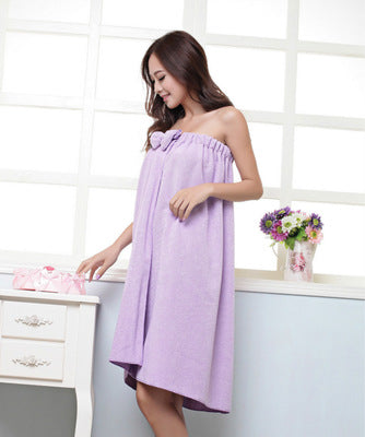HELLOYOUNG Sexy Women Microfiber Bath Towel Bath Robe Bathrobe Body Spa Bath Bow Wrap Towel Super Absorbent Bath Gown