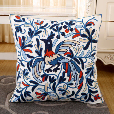 BZ131 Luxury Cushion Cover Pillow Case Home Textiles supplies Lumbar Pillow Peacock butterfly embroidery pillows chair seat