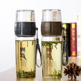 CJ014 Portable Tea bottle Filter bottle Independent tea interval Drinking water bottle Fruit Juice maker bottles Drinkware