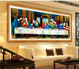 DIY 5D Diamond Embroidery The last Supper Round Diamond Painting Cross Stitch Kits Diamond Painting Mosaic Home Decor