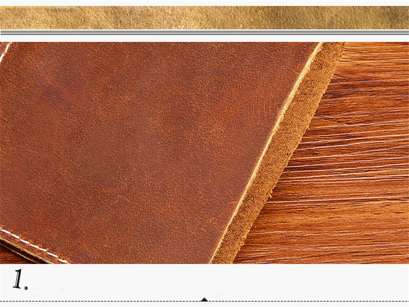 New high quality Cow wallet  leather casual handmade Money wallet retro fashion crazy horse leather simple  men's wallet
