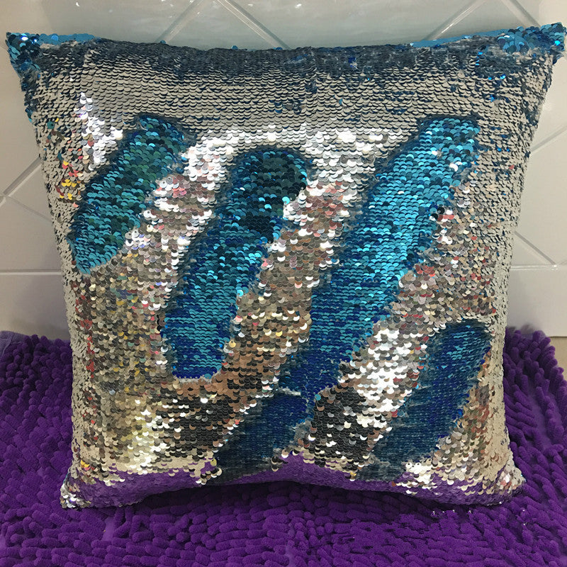 BZ171 Glitter Sequins Beads Cushion Cover Sofa Pillowcase Cafe Home Textiles Decor throw pillows chair seat
