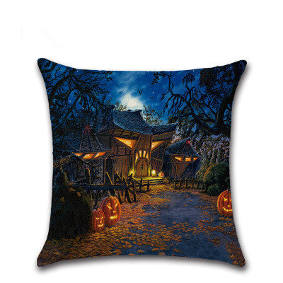 BZ196 Halloween Series 4 Ancient House Witch Pumpkin Cat Cover Pillowcase Sofa/Car Cushion /Pillow  Home Textiles supplies