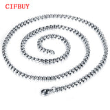 CIFBUY Square Man Link Chain Classical 316L Stainless Steel Men's Jewelry Necklace All Match Cheap Price Accessories GL744