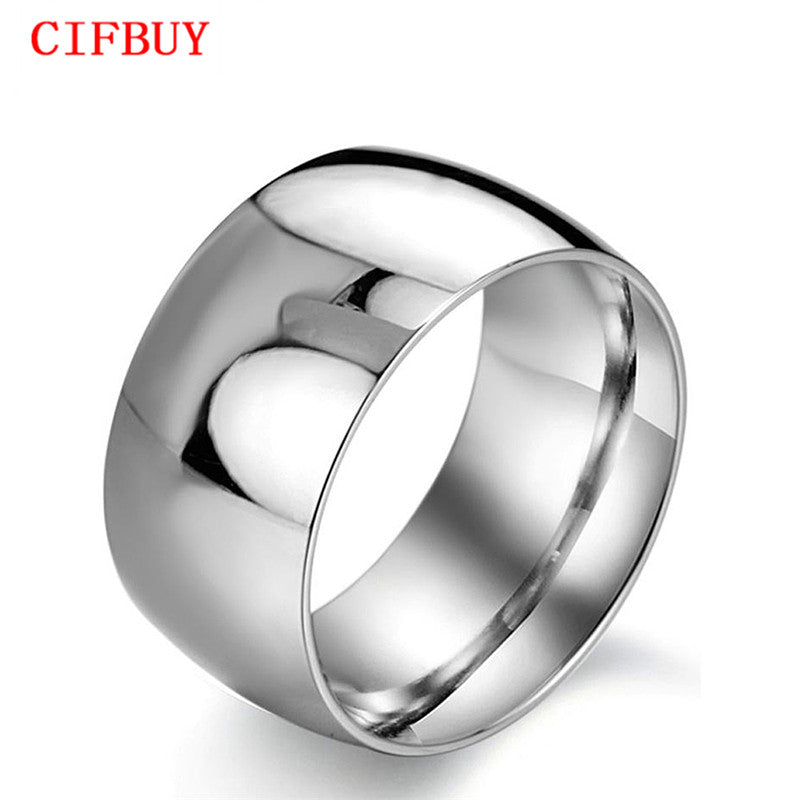 JEWELRY New personality 316L Stainless Steel Super Wide infinity ring for Men Exaggerated Style, 318 size 7/8/9/10/11/12/13