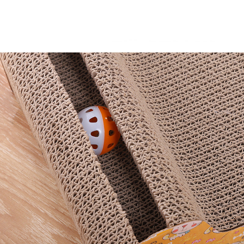 Pet Dog Cat Kitten Corrugated cat Scratch Board Pad Scratcher Bed Mat Claws Care Interactive Toy For Pet Training Cat toys