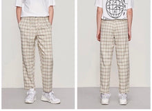 Korean | Retro Plaid Pants