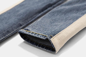 """STRIPED DENIM 