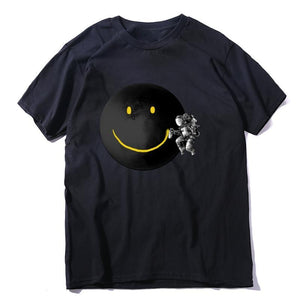 FUNNY SMILEY FACE | MOON T-SHIRT