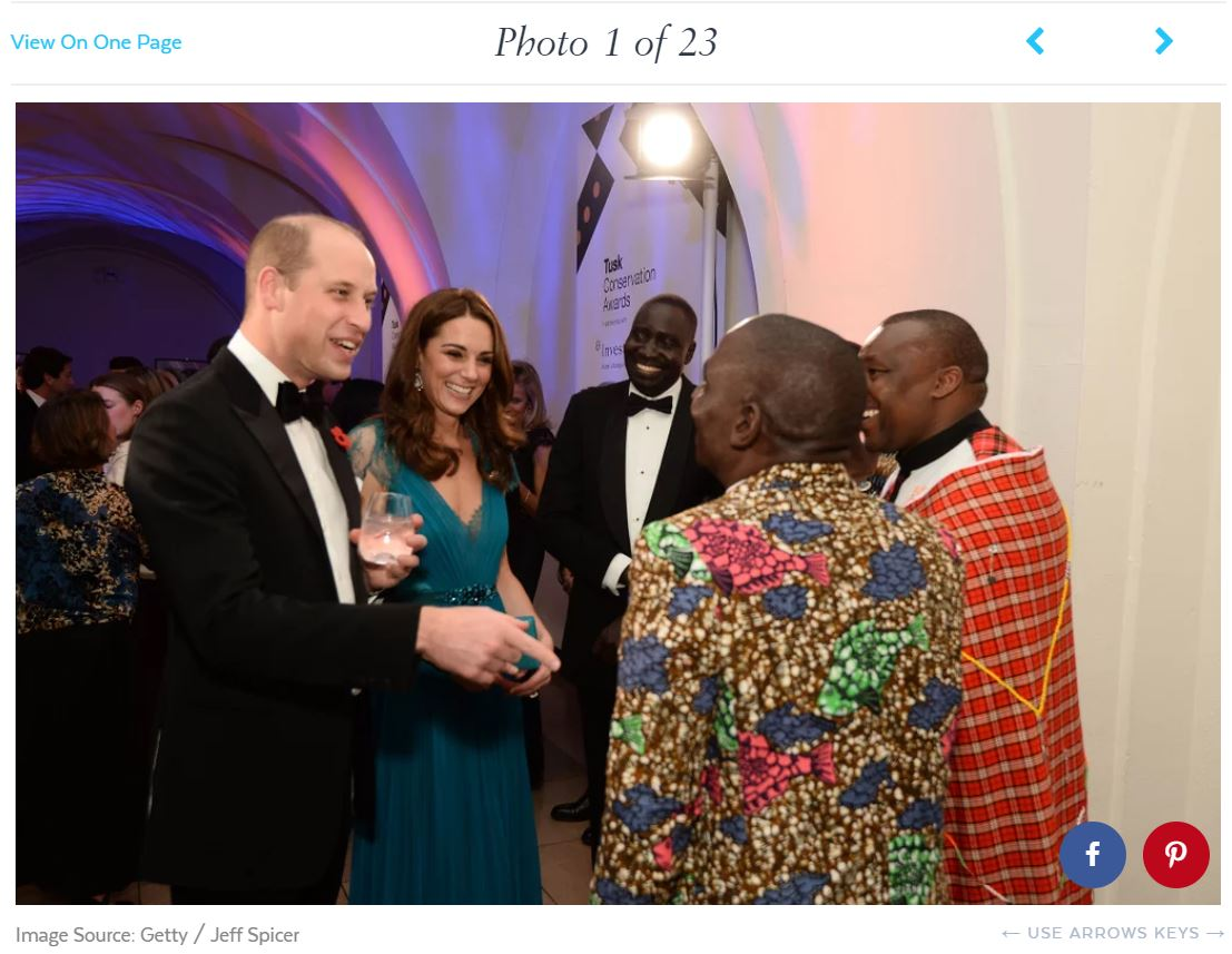 Tusk Awards - Prince William Kate Middleton Duke and Duchess of Cambridge