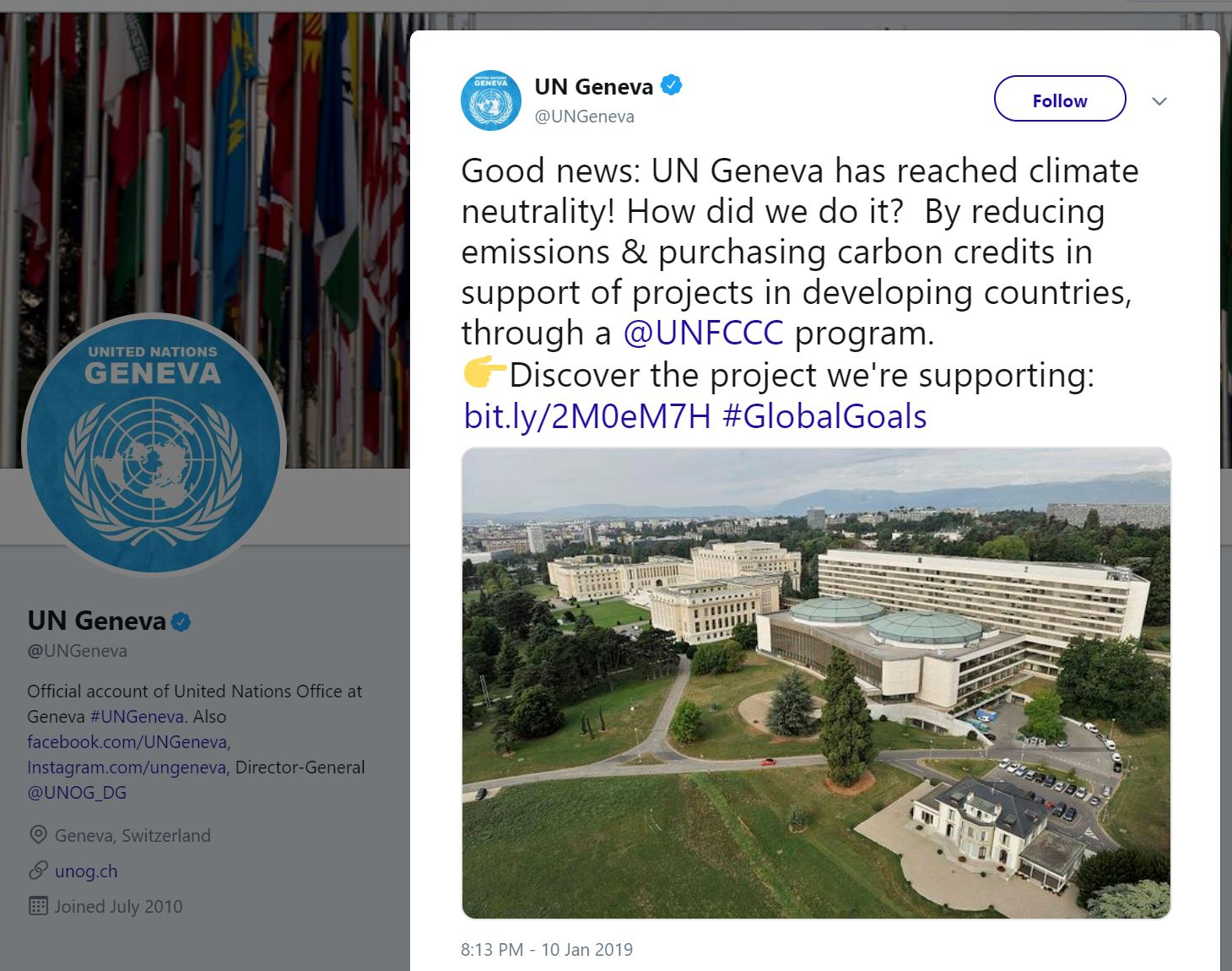 UN Geneva is climate neutral