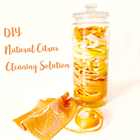 DIY natural citrus cleaning solution