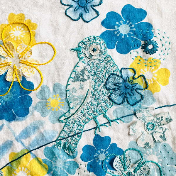 slow stitching embroidery