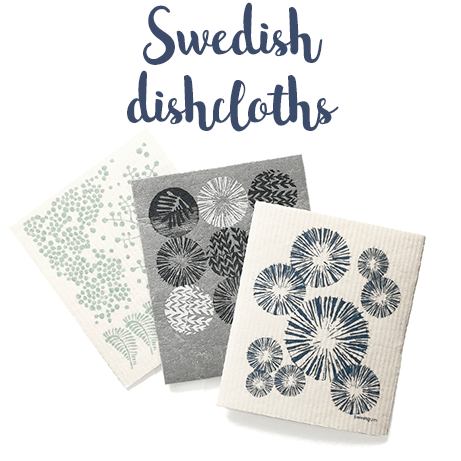 Swedish eco-friendly dishcloths by Sweetgum Home of New England.