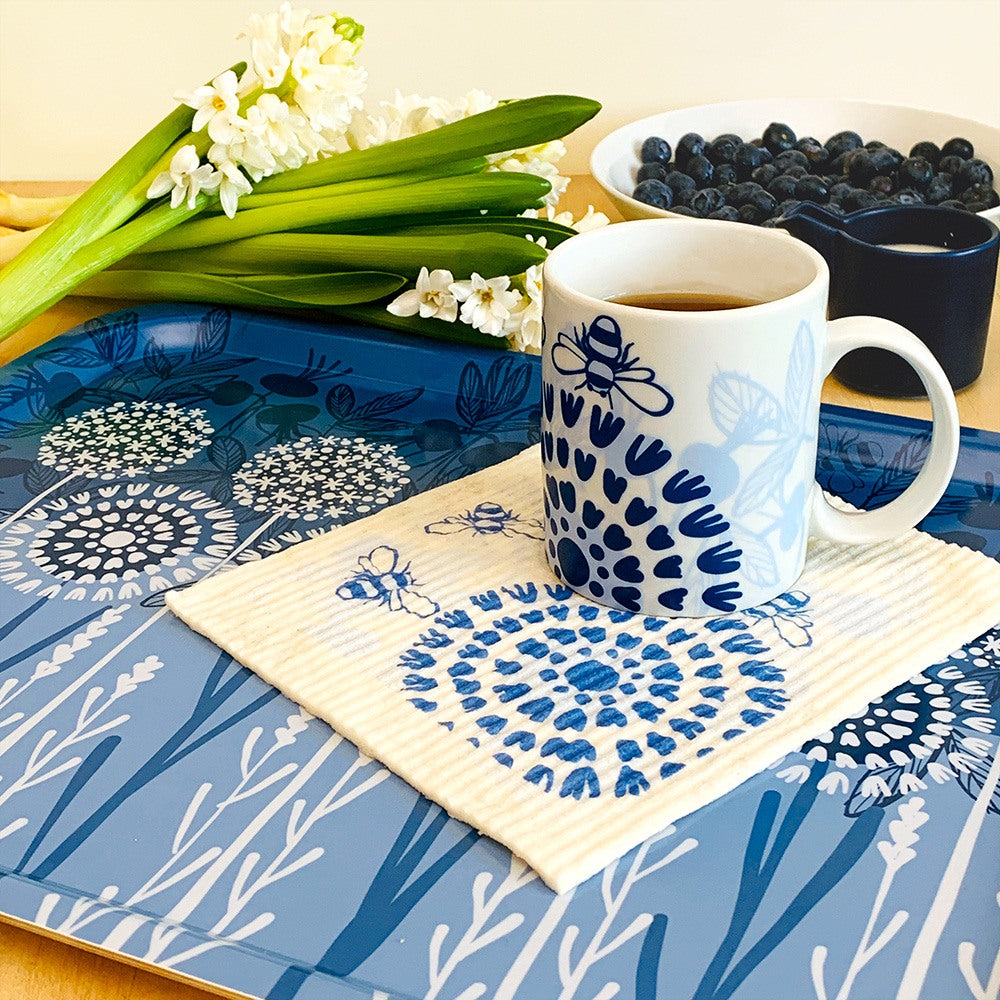 Swedish dishcloths and trays