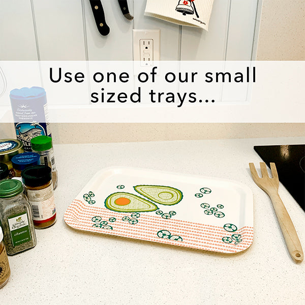 Use a small tray to organize jars of herbs and spices