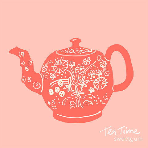 teapot drawing by Sandra Venus