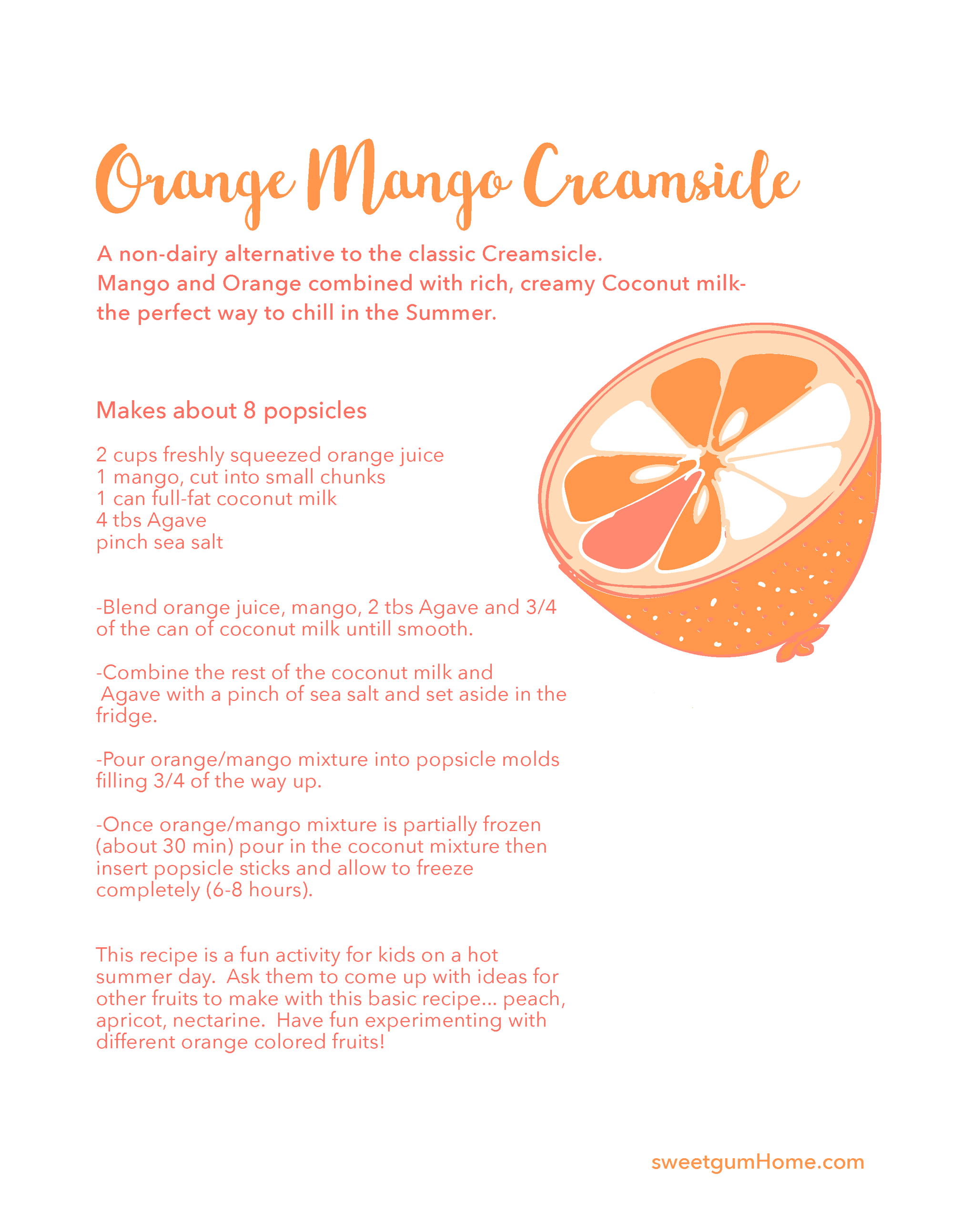 Orange Creamsicle Recipe